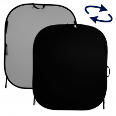 Фон складной Lastolite Plain Collapsible 1.5 x 1.8m Black/Mid Grey, арт.LL LB56GB