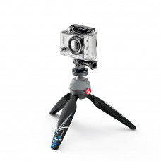 Настольные штативы Manfrotto MKPIXIEX-BK Mini Tripod Black with Tripod Mount Adaptor for GoPro+, арт.MKPIXIEX-BK